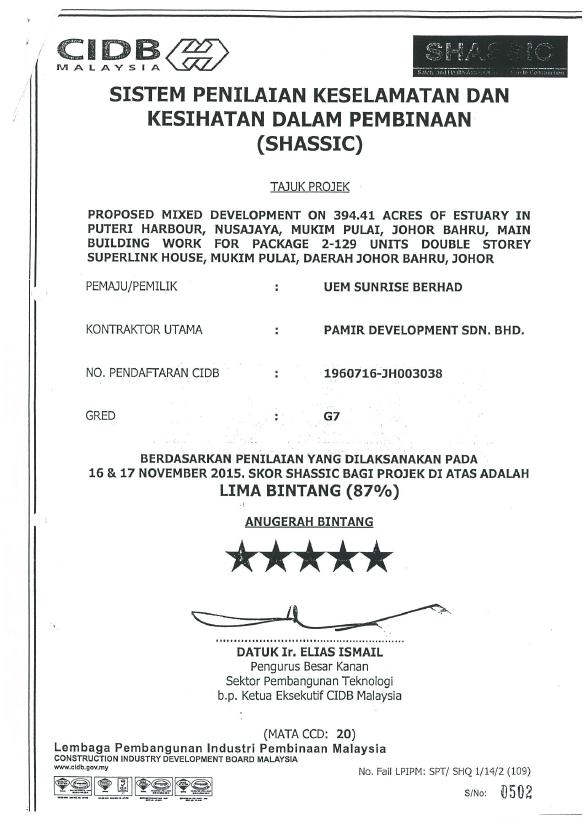 UEM Sunrise SHASSIC 5 STAR 2015 SHASSIC - Estuari Package 2