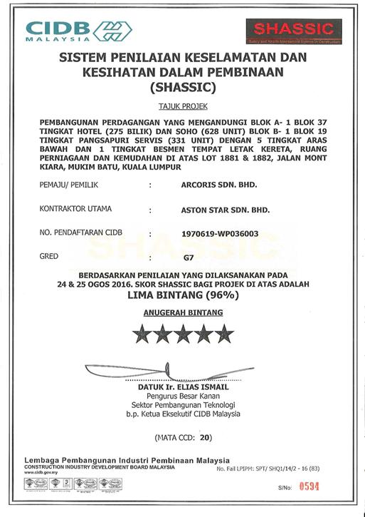 UEM Sunrise SHASSIC 5 STAR 2016 Aug SHASSIC - Arcoris