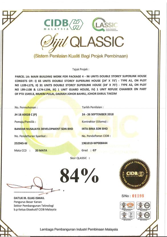 UEM Sunrise High QLASSIC Score 2018 QLASSIC - ESTUARI PACKAGE 4