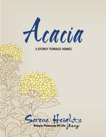 Acacia 2 Storey Terrace Homes Brochure