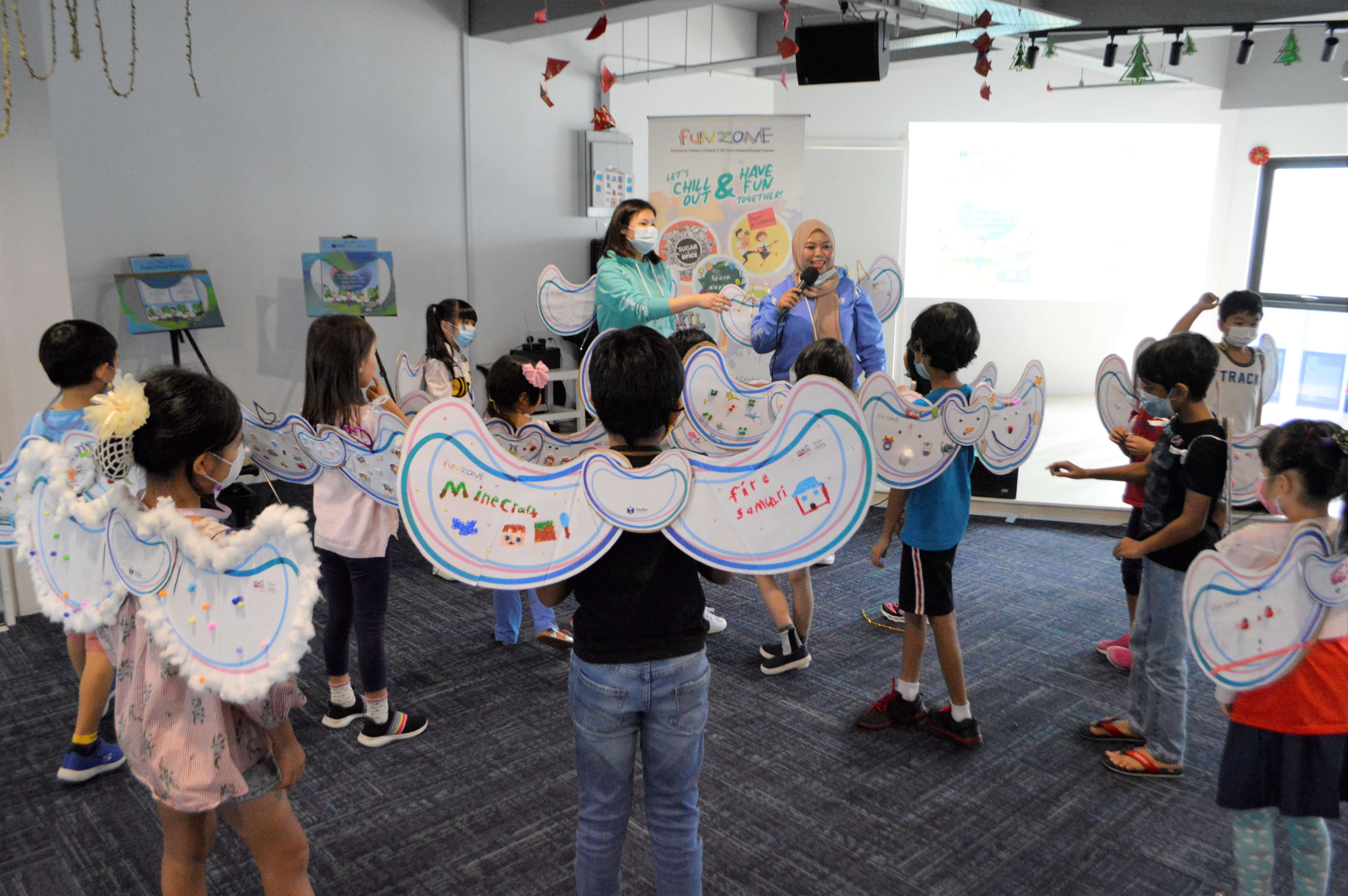"""Funzone Teaches Young Ones To Embrace Physical Distancing By Spreading Their """"one-metre Distancing Is My Happy"""" Wings"""