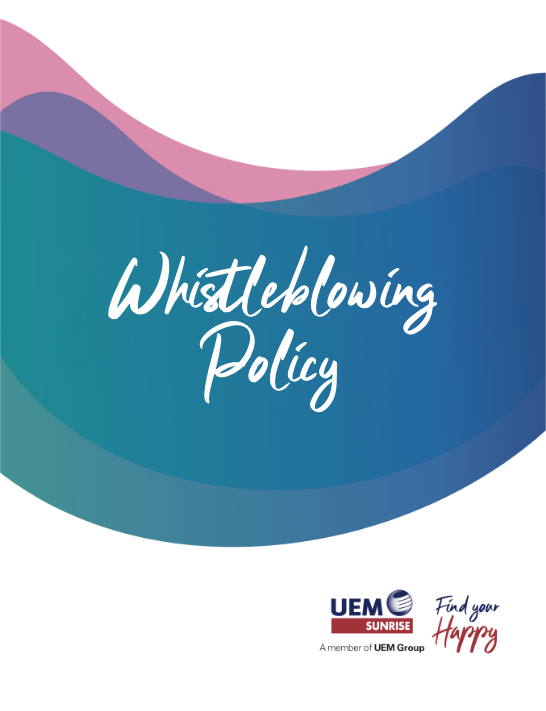 UEM Sunrise Policy Whistleblowing Policy